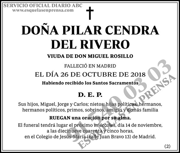 Pilar Cendra del Rivero